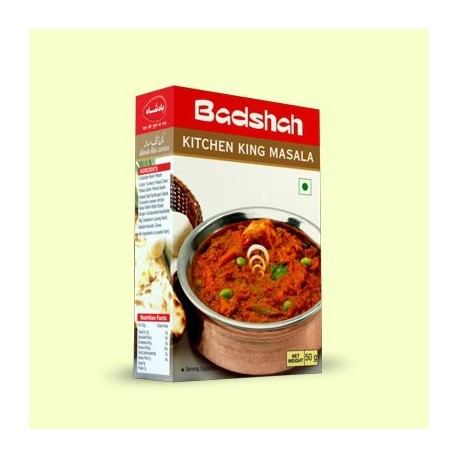 Buy badshah 39 s jain kitchen king masala online in uk europe for Kitchen king masala